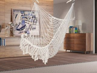 35  Cotton Hanging Rope Air Sky Chair Swing w  Tassel