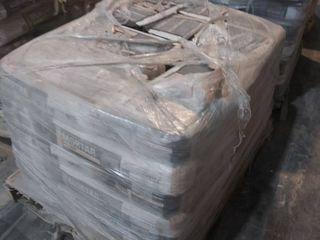 pallet of mortar for floors  gray
