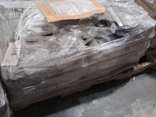 pallet of mortar for large tile and stone  white