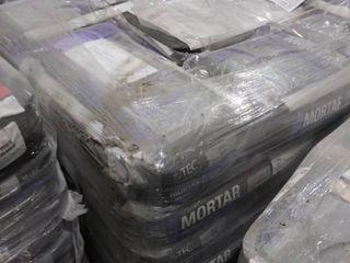 pallet of mortar for porcelain gray