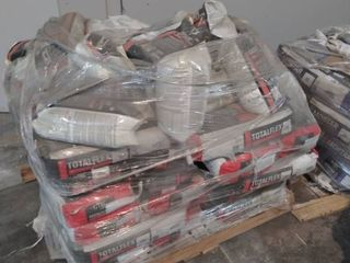 mixed pallet of total flex universal mortar and grout
