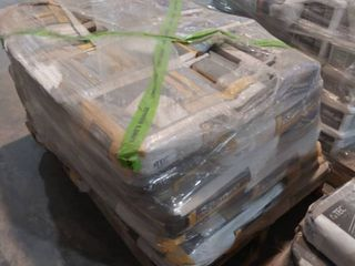 pallet of self leveling underlayment and grout