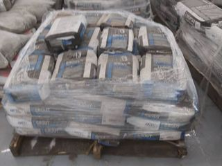 pallet of sanded grout various colors