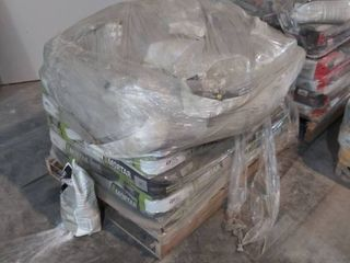 mixed pallet of grout and mortar