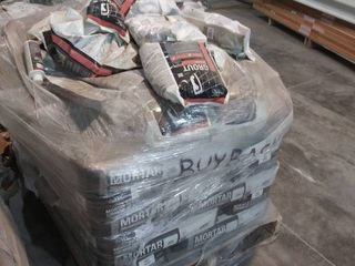 mixed pallet of grout  grout recolor  and mortar