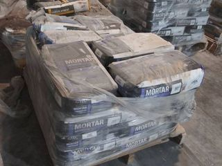 27 bags of mortar for porcelain  white 2 bags of grout
