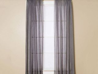Miller Curtains Sheer Preston Rod Pocket 51  x 95  Panel