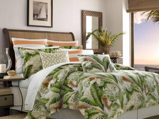 Tommy Bahama Palmiers 4 piece Comforter Set  Retail 147 49  Queen