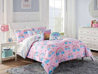Twin Over the Rainbow Comforter Set Pink   Spree By Waverly