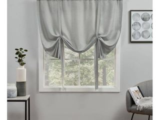 Exclusive Home Curtains loha light Filtering Rod Pocket Tie Up Shade  54x63  Dove Grey