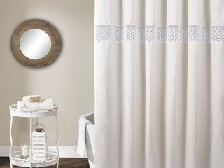 Dana lace Shower Curtain White   lush DAccor