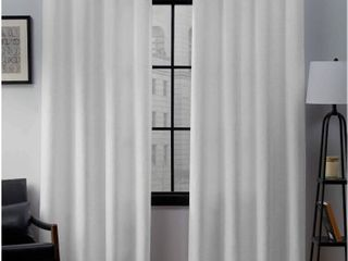 Porch   Den Sugar Creek Grommet Top loha linen Window Curtain Panel Pair   Winter White
