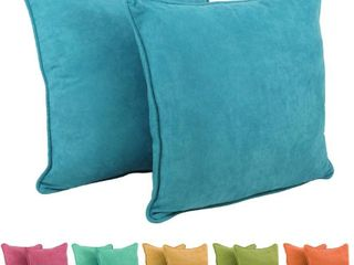 Porch   Den Springbrooke 25 inch Microsuede Floor Pillows AQUA BlUE
