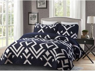 3 piece Oversized King Quilt Set  Marla