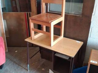 Single student Desk with wooden Chair