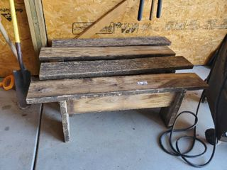 4 Hand Made Wood Benches