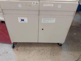 large metal laptop Cabinet by Bretford