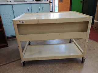 large one and a Half shelf Metal rolling cart
