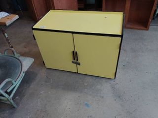 Yellow Wooden cabinet