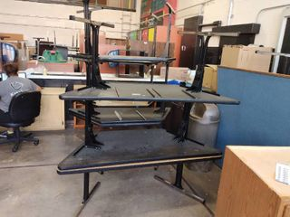 lot Of Two Trapezoid Tables