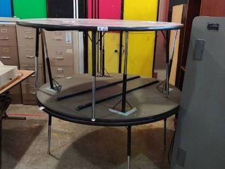 lot of Three large round Tables