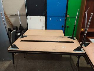 lot of two rectangle tables