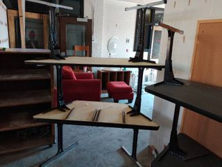 lot of 3 Trapezoid Tables