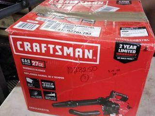 Craftsman 27 cc 2 cycle 205 mph Handheld Gas leaf Blower Cmxgaamr27bl