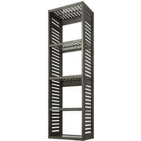 allen   roth 24 in W x 17 in D x 76 in H Antique Gray Wood Closet Tower