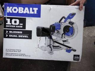 Kobalt 10 in 15 amp Dual Bevel Sliding Compound Miter Saw Sm2517lw