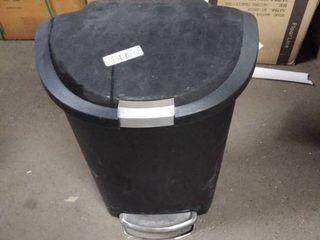 black flip trash can