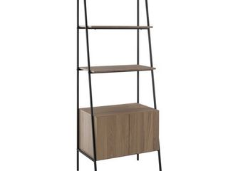 72  Metal   Wood ladder Storage   Mocha