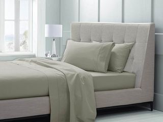 Queen 600 Thread Count 100  Supima Cotton 4 Piece Sheet Sets by Grace Home Fashions   Moonstone