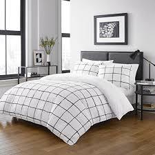 Full Queen White Zander Comforter Set   CITY SCENE