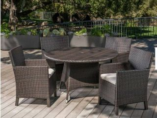 Table Only Cypress Outdoor Round Wicker Table