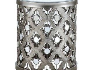 Silver Orchid Olivia Silver Quatrefoil Mirror Accent Table  Retail 113 99
