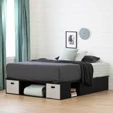South Shore Vito storage bed with 2 baskets