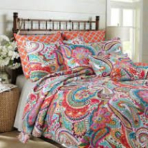 Blazing Paisley Reversible 3 Piece Quilt Set