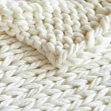 Madison Park Chunky Double Knit Handmade Throw