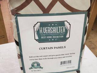 H  Versailles Brownline 52 x 84 Blackout Curtain Panels