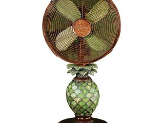 Deco Breeze DBF0247 Mosaic Glass Pineapple 10 inch Table Fan  Retail 149 99