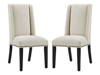 Baron Dining Chair Fabric Set of 2  Retail 261 72