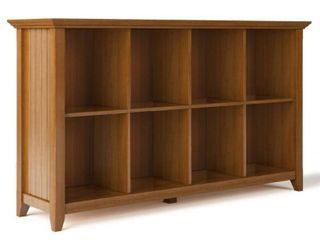 WYNDENHAll Normandy SOlID WOOD 33 inch x 57 inch Rustic 8 Cube Storage Sofa Table   57 w x 15 75 d x 33 h  Retail 410 99