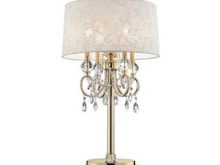 32 5 Inch Aurora Barocco Shade Crystal Gold Table lamp  Retail 234 49