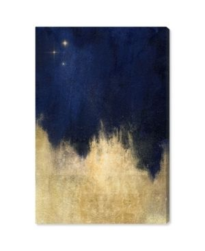 Oliver Gal  Stars at Midnight  Abstract Wall Art Canvas Print   Blue  Gold