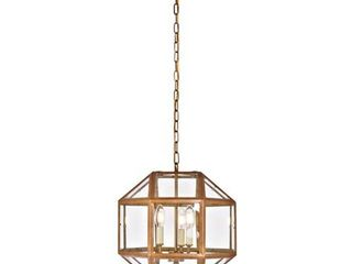 Caro Collection Pendant D14 H15 lt 3 Vintage Gold Finish  Retail 198 00