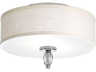 Progress lighting P3402 15 Status Chrome Steel and Porcelain 2 light Flush Mount  Retail 125 70