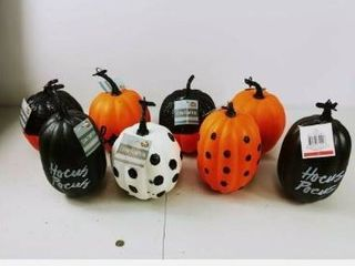 lot of 8 Faux Pumpkin Boo on Orange   Bullseye s Playground
