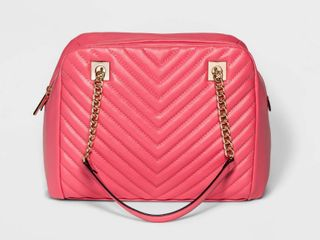 Women s Quilted Satchel   A New Day Pink