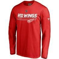 lot of 4  Nhl Fanatics Men Detroit Red Wings Authentic Pro Prime Red long Sleeve Shirts